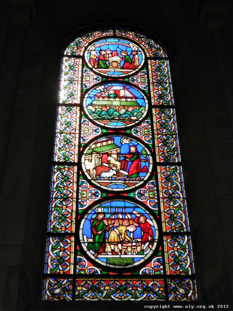 ELY CATHEDRAL - Stained Glass Window of Ely Cathedral