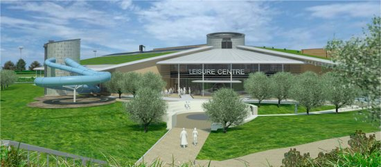 Work begins on new leisure centre in ely ely online - St mary s school bexhill swimming pool ...